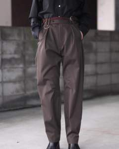 Silver Flap Tuck in Pants