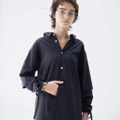 kudos soduk/Double Sleeve Stripe Shirt